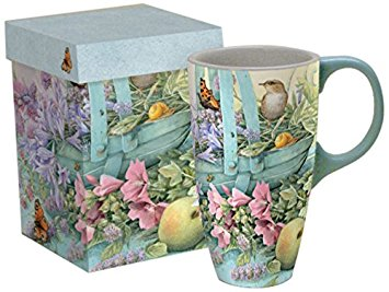 Lang Basket of Flowers Latte Mug