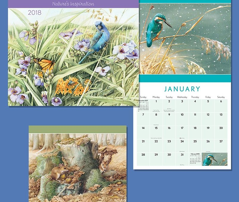 Marjolein Bastin Art on Andrews McMeel calendar!