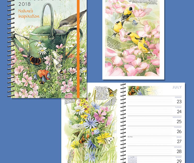 Marjolein Bastin Art on Andrews Mcmeel planner!