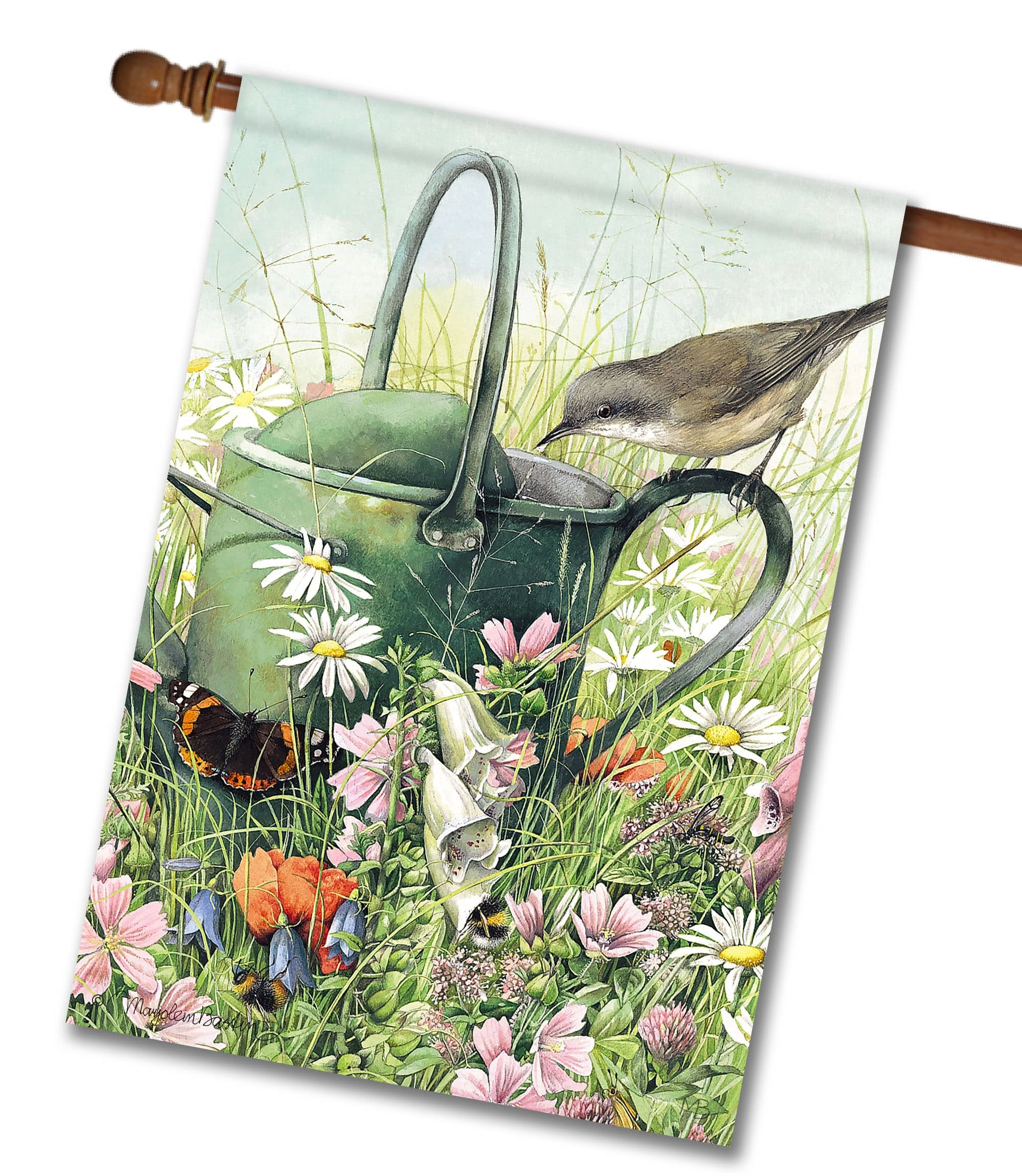 Beautiful Marjolein Bastin Floral Meadow Flag from Flagology.com