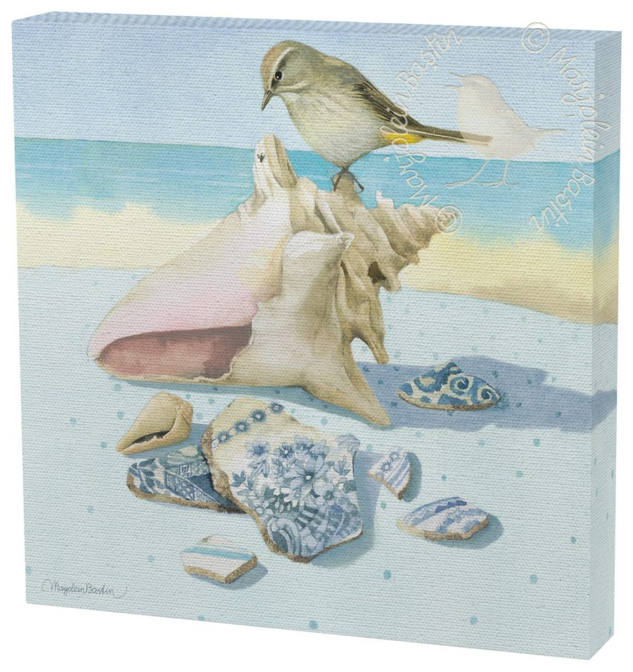 """Beach Treasures - 12 x 12"""" Gallery Wrapped Canvas"""