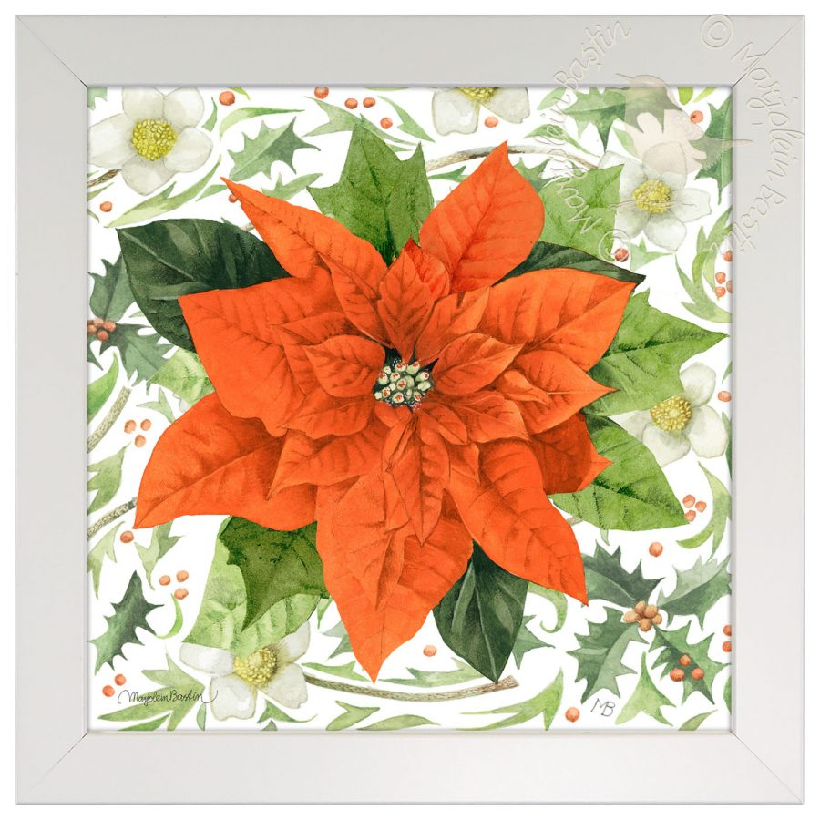 "Christmas Star - 10"" x 10"" Framed Prints (Daisy White Frame)"