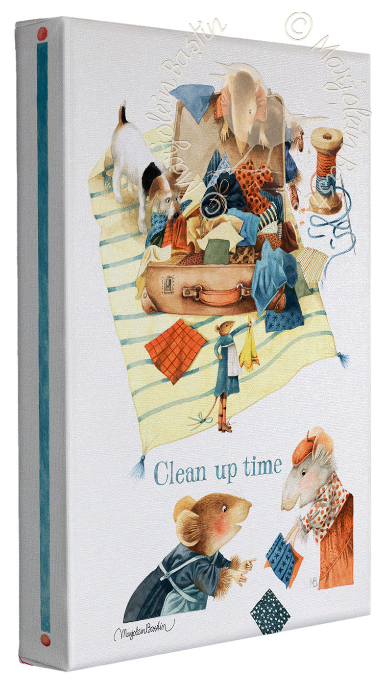 "Clean up time! - 9"" x 12""  Gallery Wrapped Canvas (Frameless Frame)"