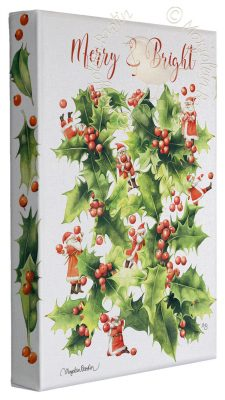"Merry and Bright - 9"" x 12"" Gallery Wrapped Canvas (Unframed Frame)"