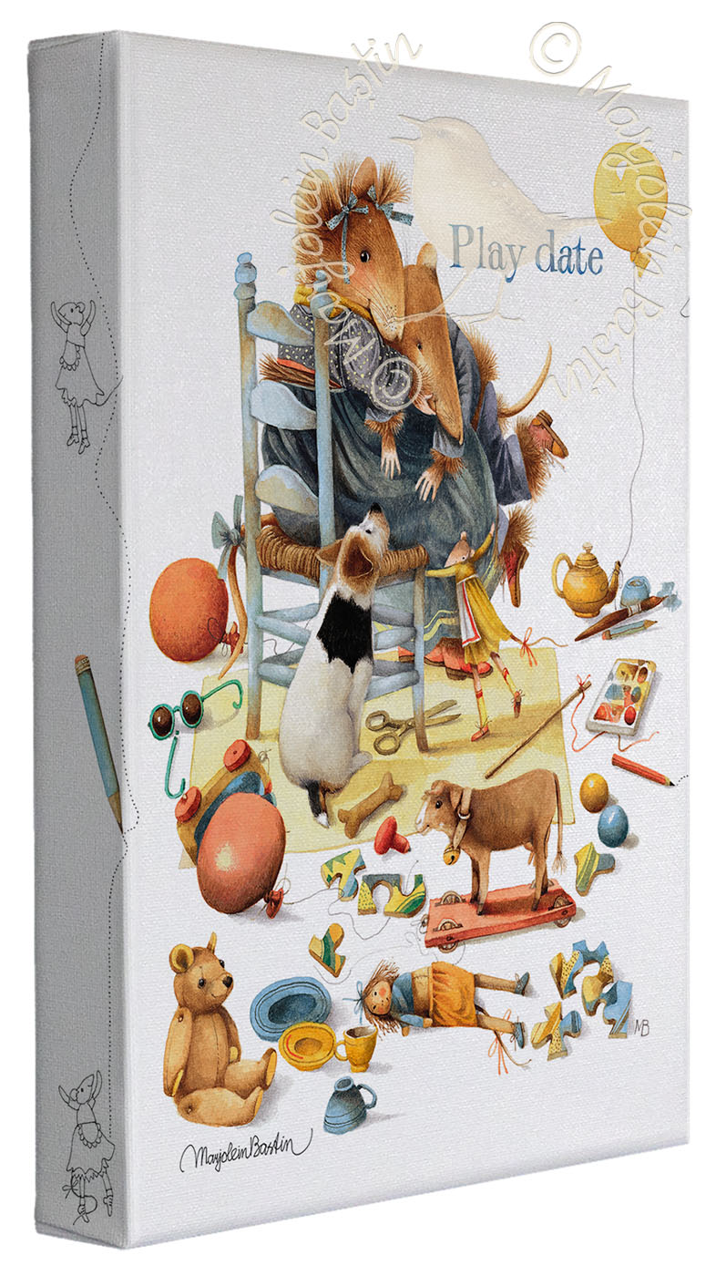 """Play Date - 9"""" x 12""""  Gallery Wrapped Canvas (Frameless Frame)"""