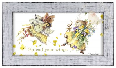"Spread your Wings  - 9 3/8"" x 16 3/8"" Framed Prints (White Frame)"