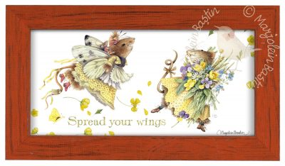 "Spread your Wings  - 9 3/8"" x 16 3/8"" Framed Prints (Tiger Lily Red Frame)"