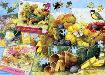 Here is your chance to win a set of three new Marjolein Bastin puzzles from Ceaco