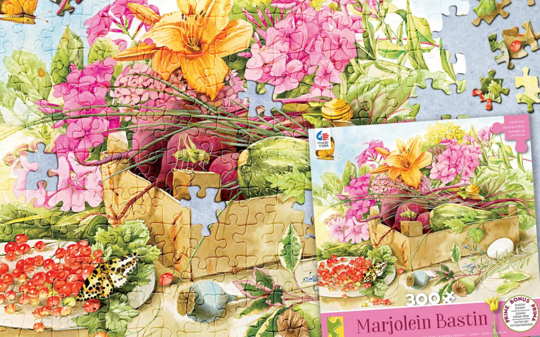 Second puzzle in new series from Ceaco featuring Marjolein Bastin Artwork