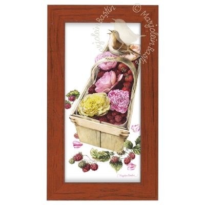"Berry Basket - 9 3/8"" x 16 3/8"" Framed Prints (Tiger Lily Red Frame)"
