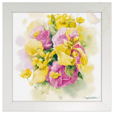 "Dreaming of Spring - 12"" x 12"" Framed Prints (Daisy White Frame)"
