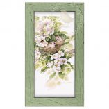 "Sweet Devotion - 9 3/8"" x 16 3/8"" Framed Prints (Mint Green Frame)"