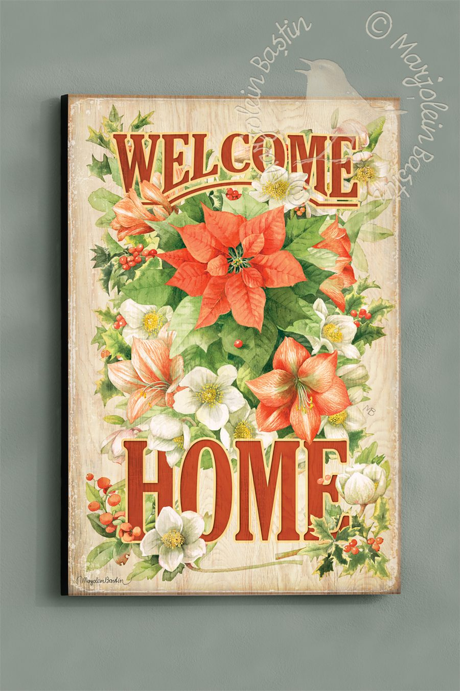 "Welcome Home - 18'' x 12"" Wood Sign"