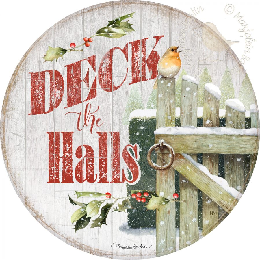 Deck the Halls - 21'' Wood Sign