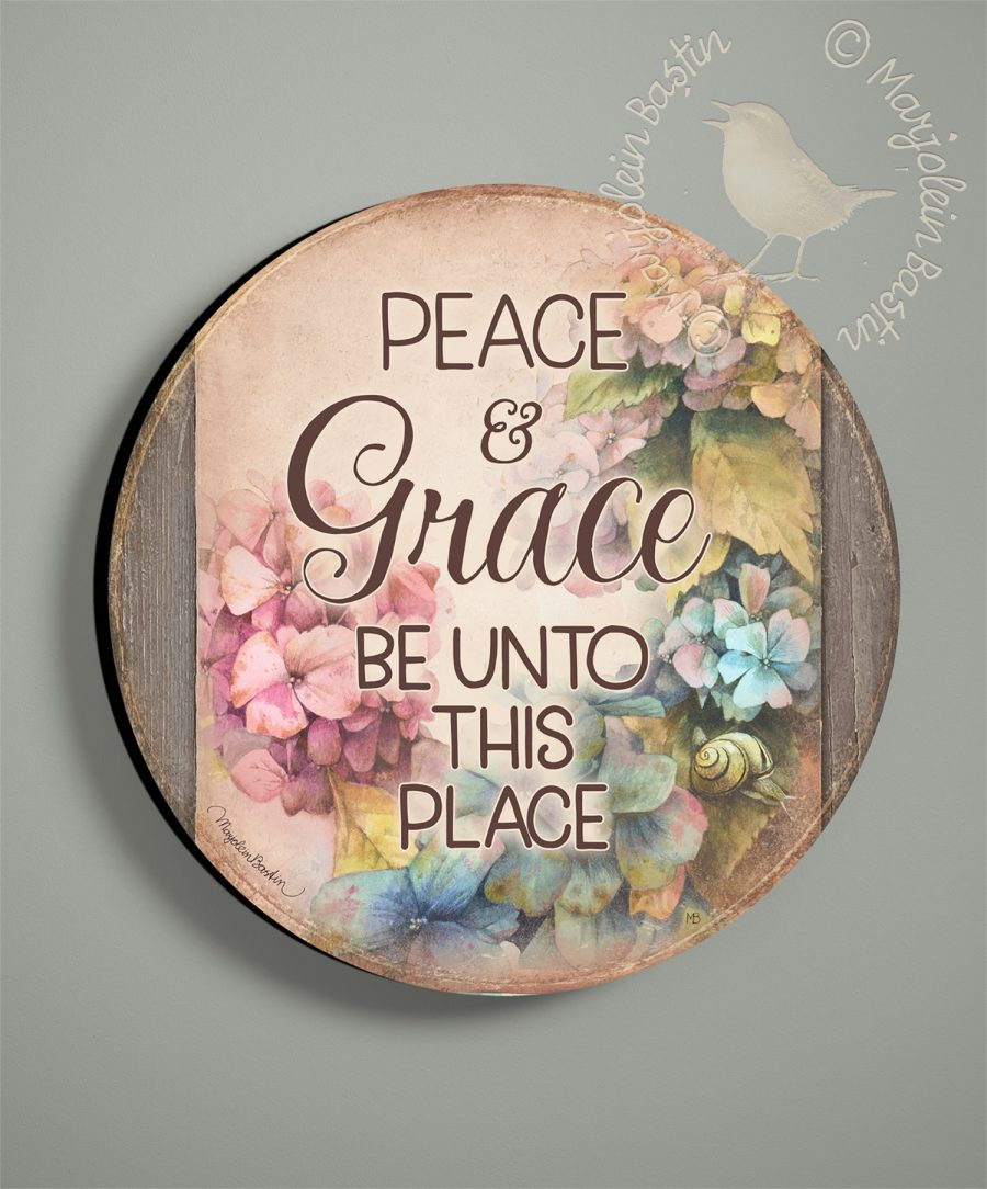 Peace & Grace - 21'' Wood Sign