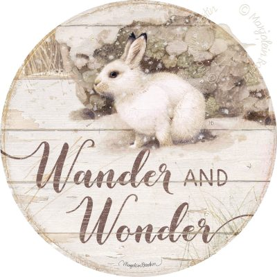 Wander & Wonder - 21'' Wood Sign