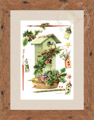 "Home for the Holidays - 15.75"" x 10.5"" Framed Print"