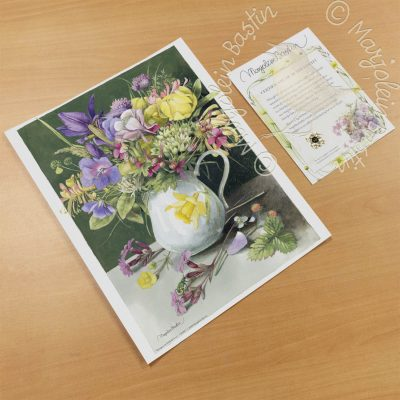 "Bouquet in Daffodil Vase - 11"" x 14"" Art Prints"