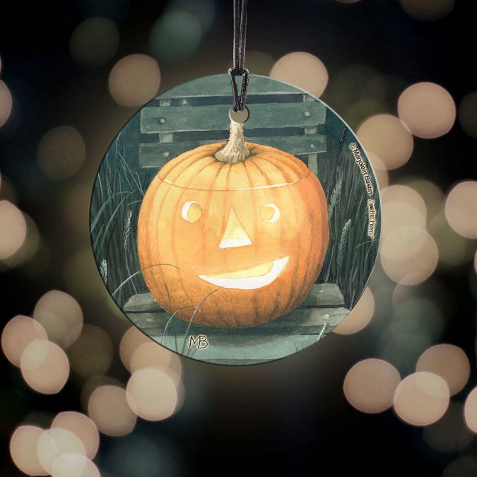 Pumpkin Hanging Glass