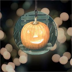 Pumpkin Hanging Glass from Trend Setters Ltd.