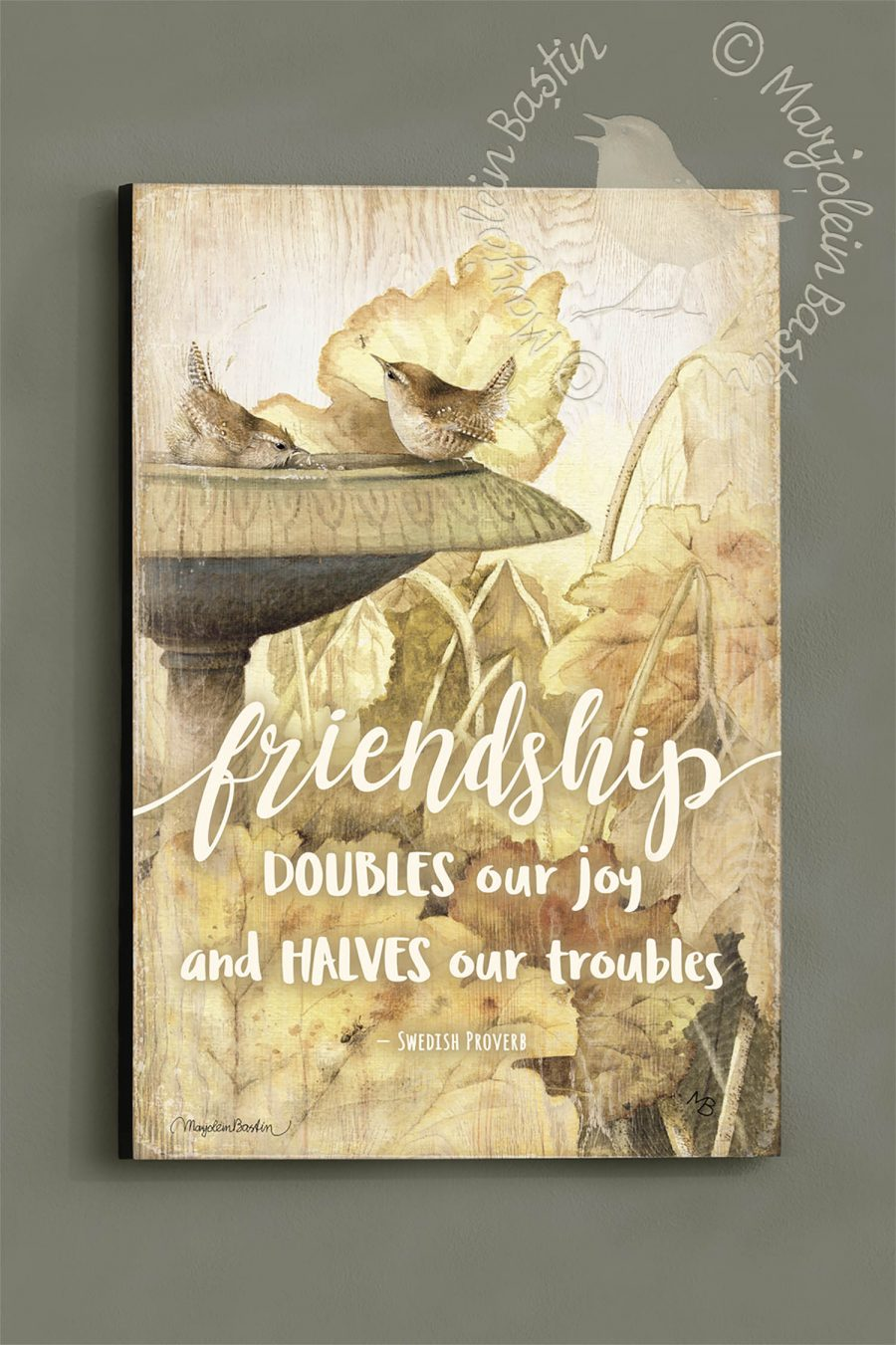 "Friendship Proverb - 18"" x 12"" Wood Sign"