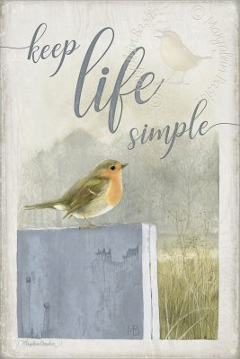 "Keep Life Simple - 18"" x 12"" Wood Sign"
