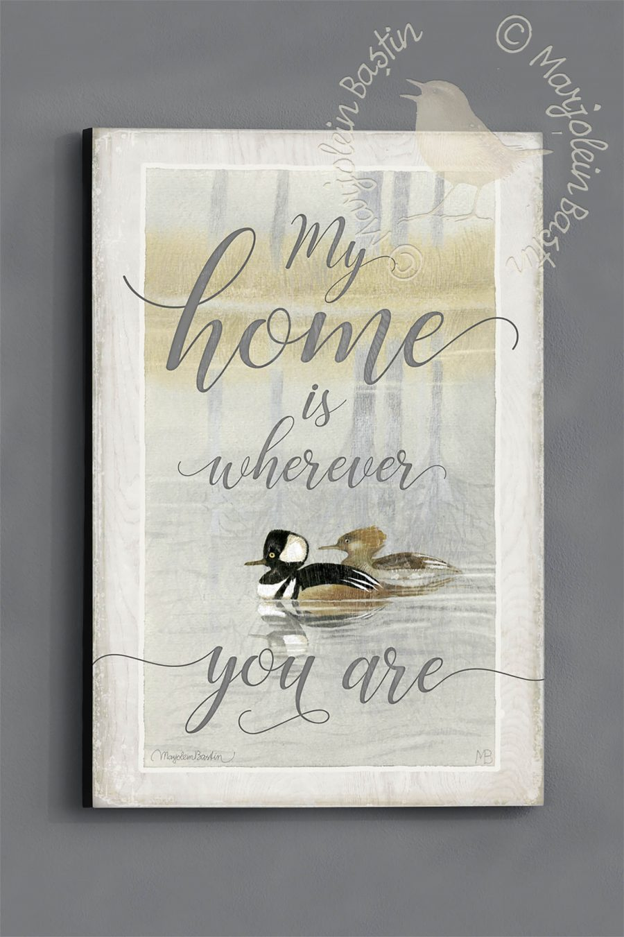 "My Home is Wherever You Are - 18"" x 12"" Wood Sign"