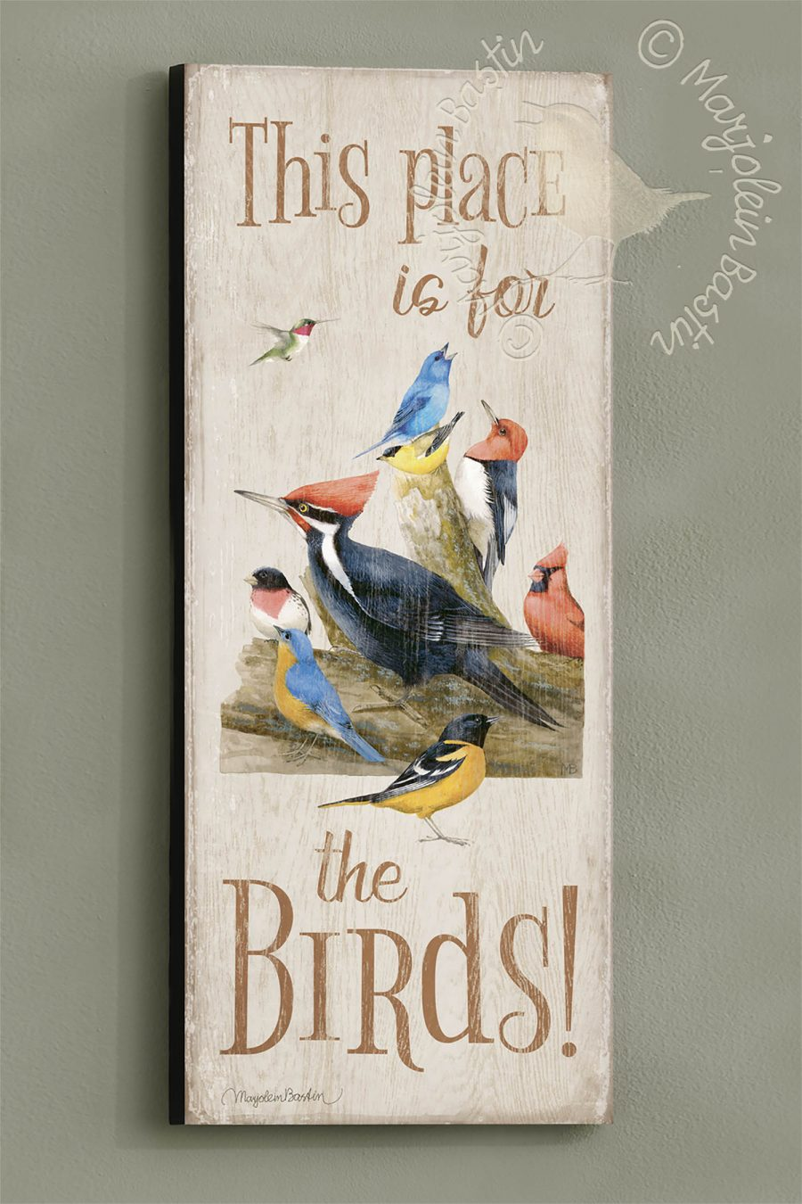 This Place is for the Birds 30 x 12 Wood Sign