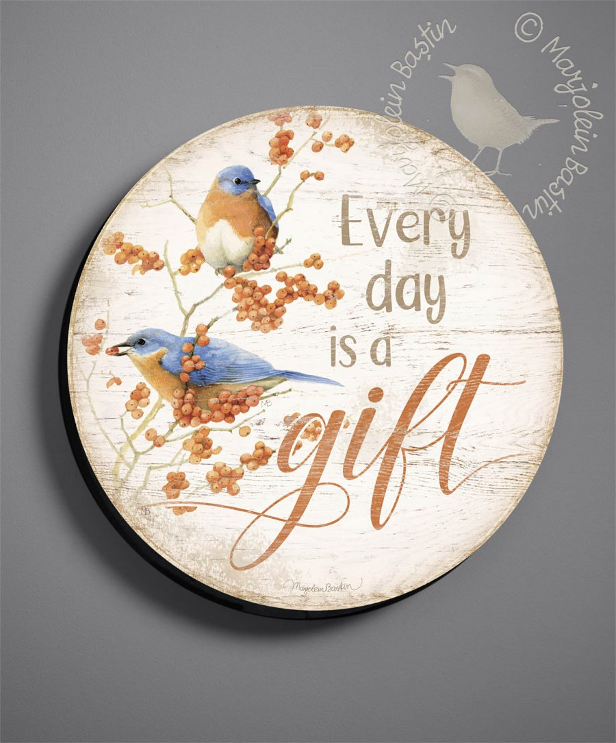 "Every Day is a Gift - 21"" Wood Sign"