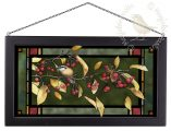 "Red and Gold - 13"" x 23"" Stained Glass Art"