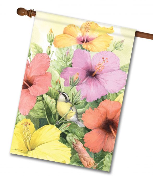 Marjolein Bastin New Hibiscus House Flag from Flagology