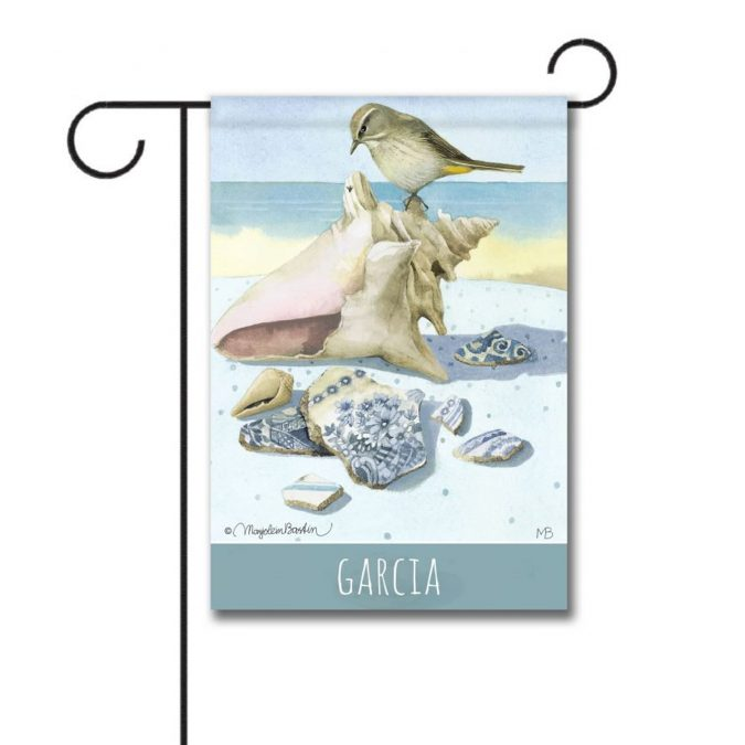 New Personalized Garden flag-Beach Treasures from Flagology