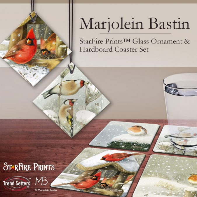 Marjolein Bastin's Winter Birds Products by Trend Setters Ltd.