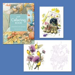 Andrew's McMeel Coloring book featuring Marjolein Bastin Artwork!