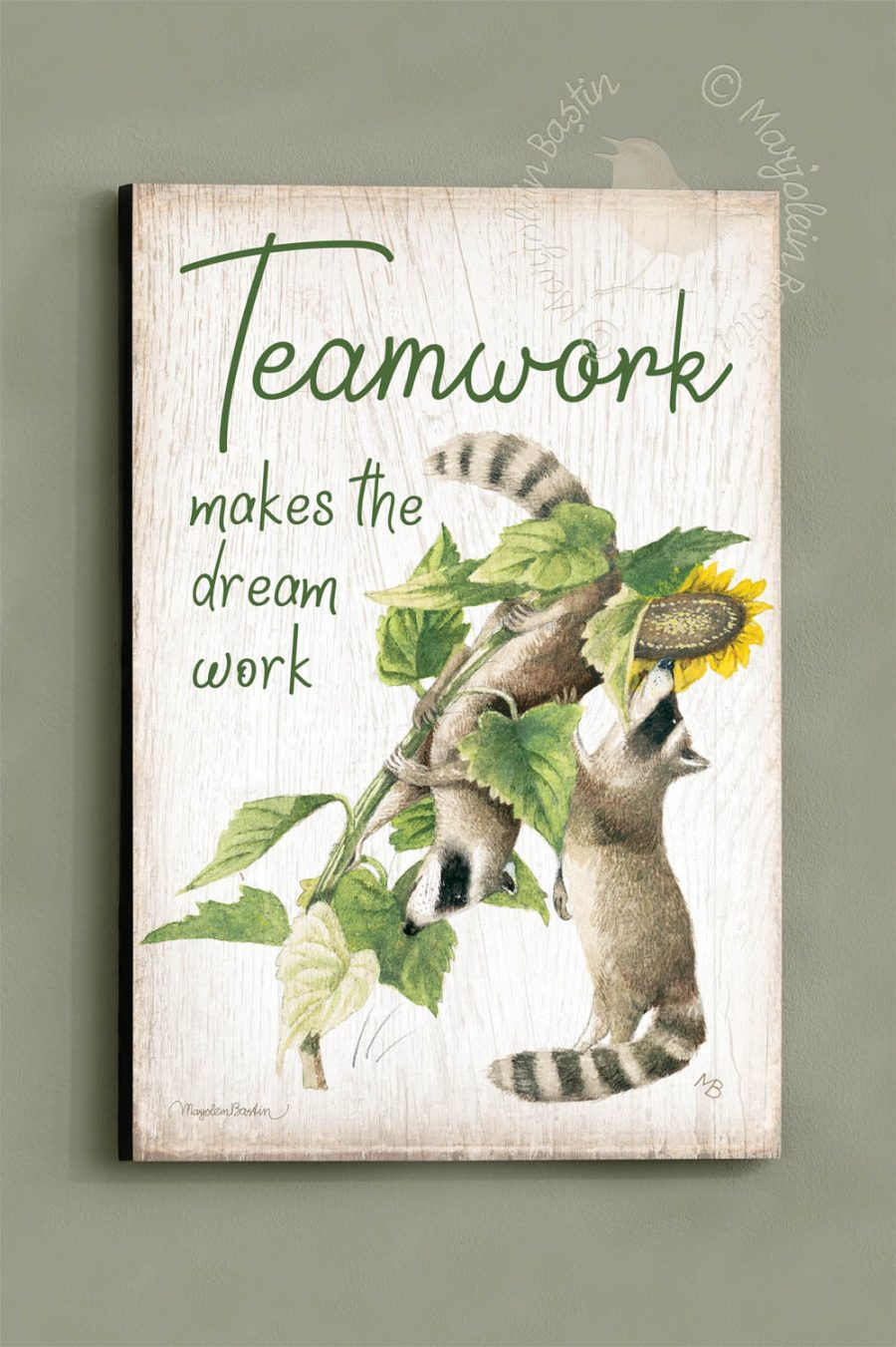 Teamwork - 18x12 Wood Signs
