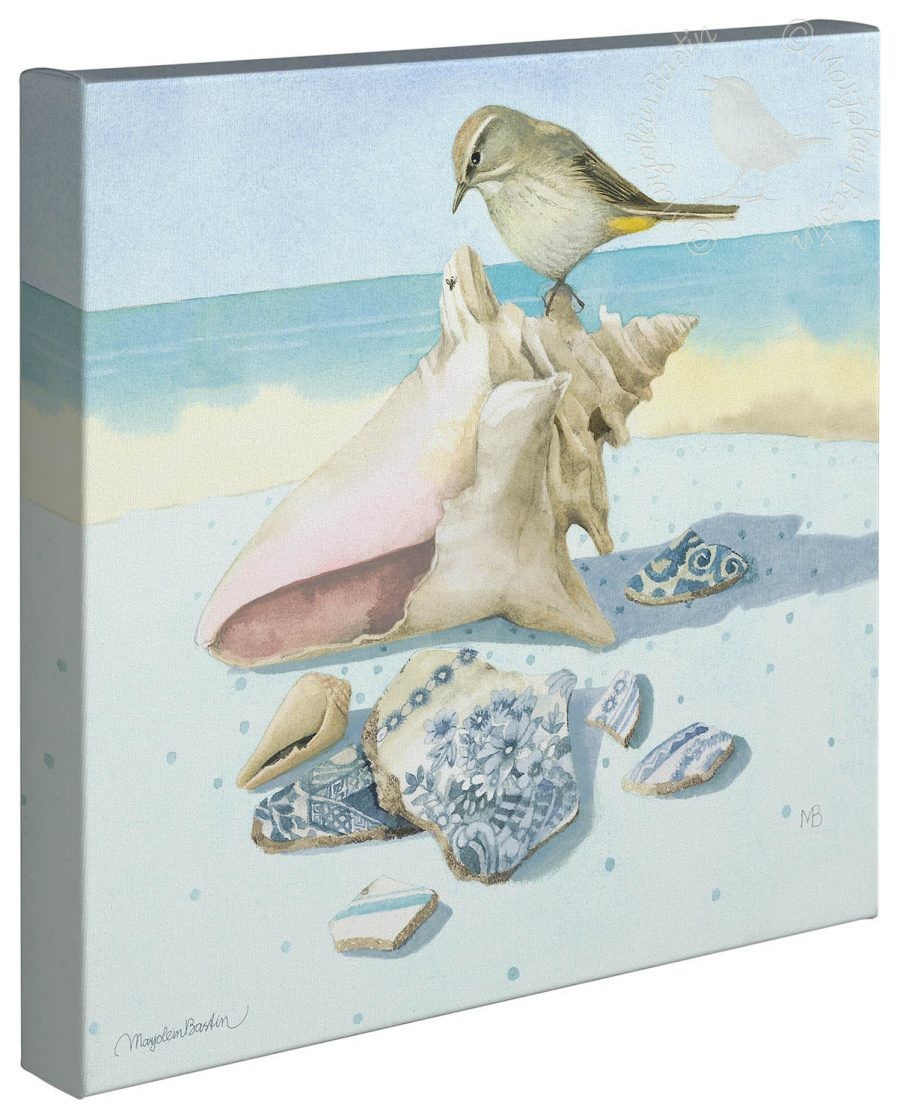 "Beach Treasures - 14"" x 14"" - Gallery Wrap Canvas"
