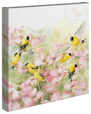 "Crowded Dogwood - 14"" x 14"" - Gallery Wrap Canvas"
