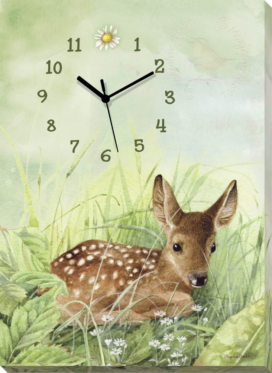 "Fawn - 18""x13"" Wrapped Canvas Clock"