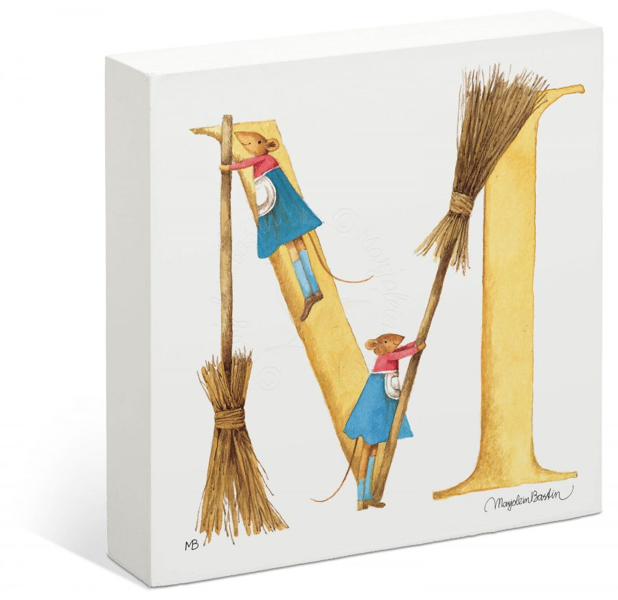 "Vera the Mouse - 6"" x 6"" Box Art (Letter M)"