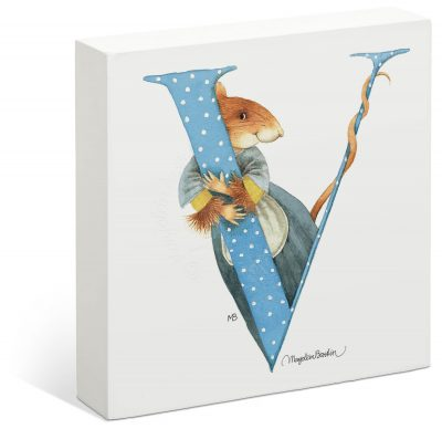 "Vera the Mouse - 6"" x 6"" Box Art (Letter V)"