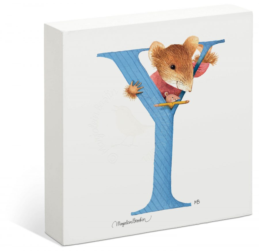 "Vera the Mouse - 6"" x 6"" Box Art (Letter Y)"