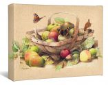 "Garden Trug with Apples - 9"" x 12"" Wrapped Canvas"