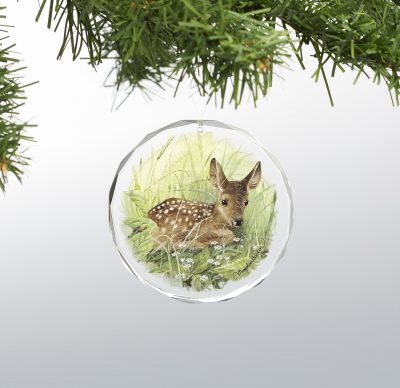 "Waiting for Mom - 3"" x 3"" Round Glass Ornament"