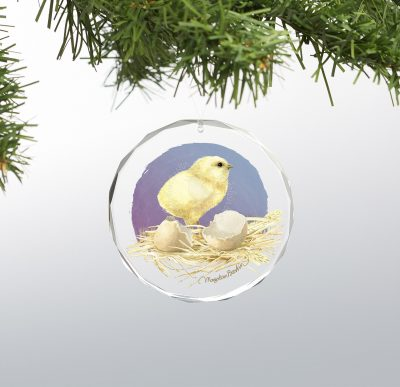 "Eggs Just for You - 3"" x 3"" Round Glass Ornament"
