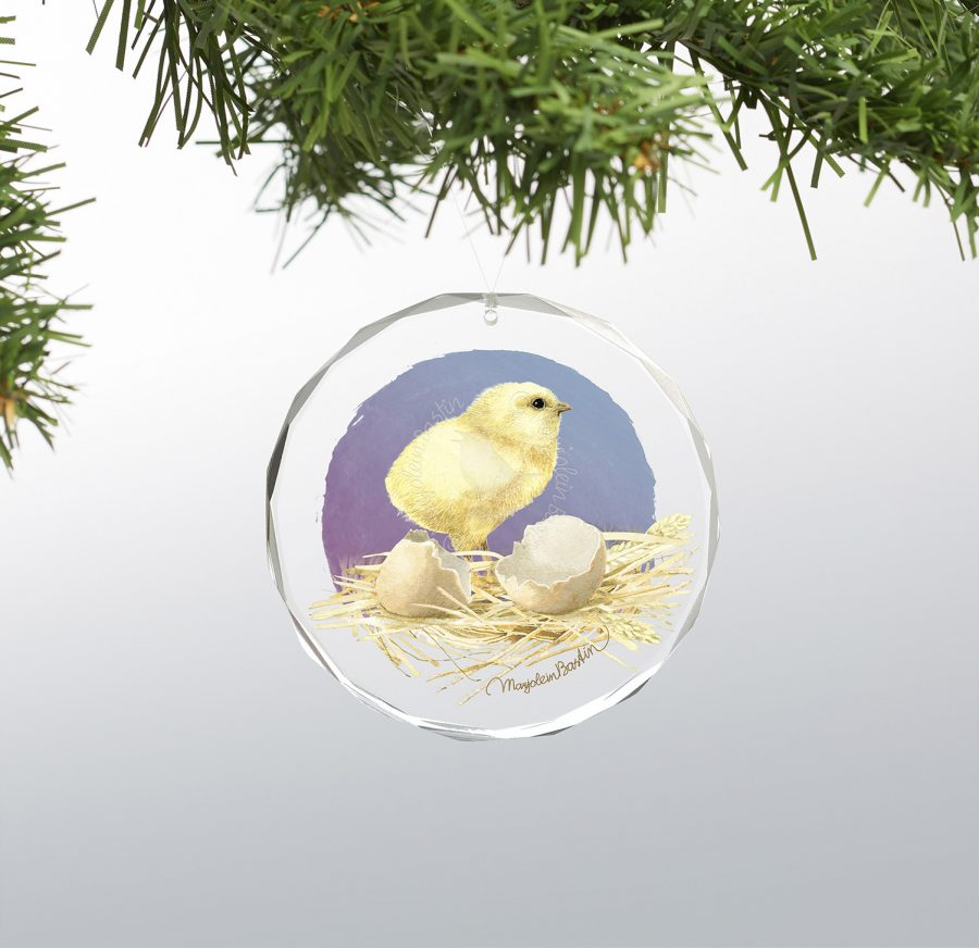 """Eggs Just for You - 3"""" x 3"""" Round Glass Ornament"""