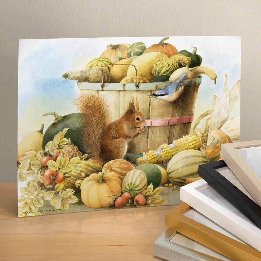"Autumn Snacks - 11"" X 14"" Art Print"