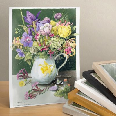"Bouquet in Daffodil Vase - 11"" X 14"" Art Print"