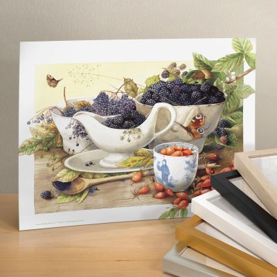 "Bountiful Blackberries - 11"" X 14"" Art Print"