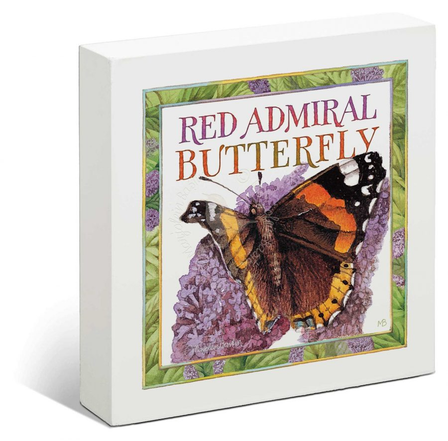 """Painted Lady Butterfly - 6"""" x 6"""" Box Art"""