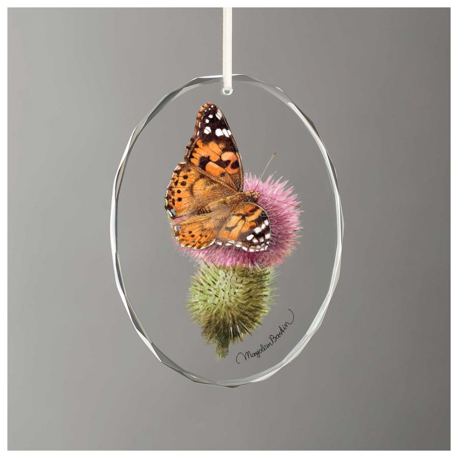 "Old World Swallowtail Butterfly - 3.5"" x 3"" Glass Ornament"